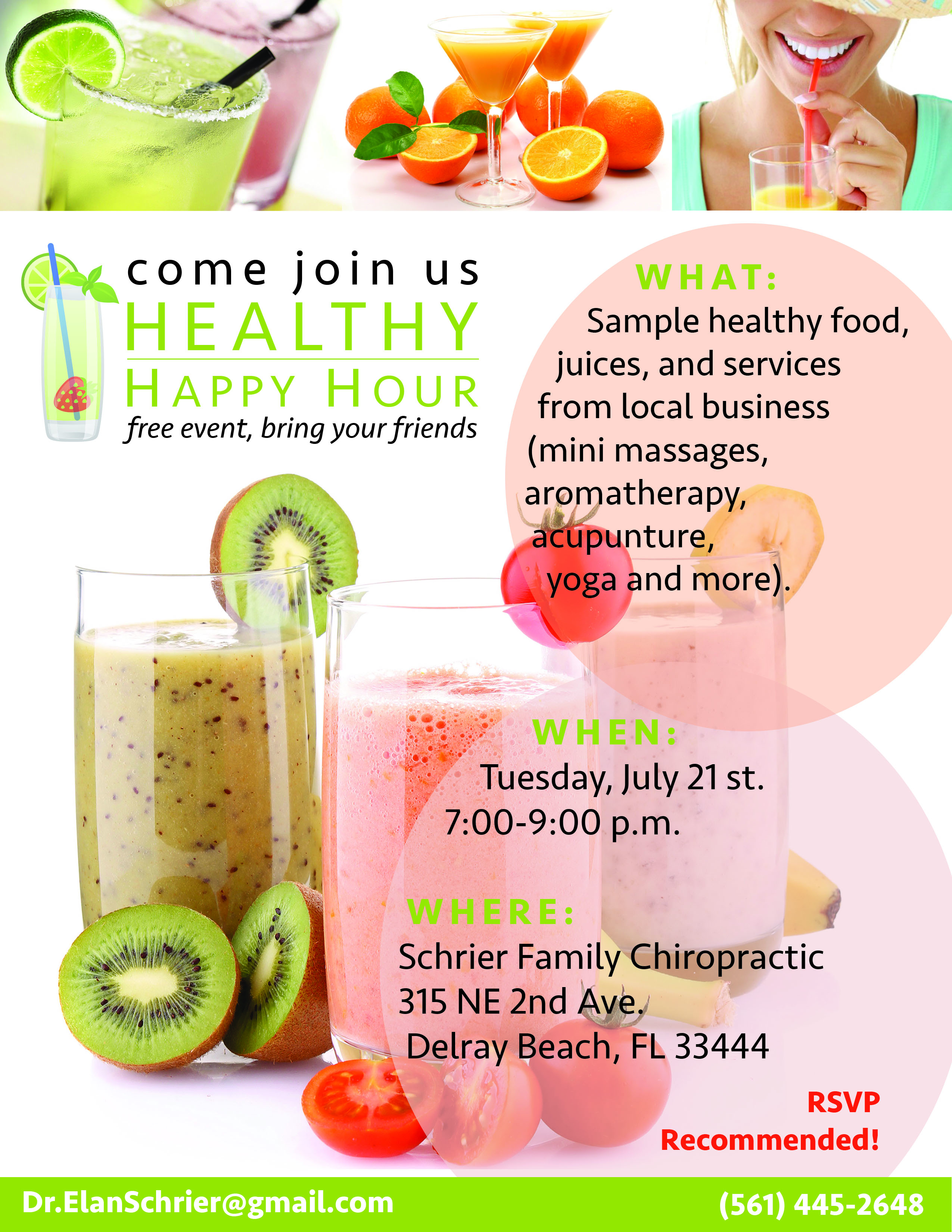 FREE Ladies Healthy Happy Hour - Enhance Performance Center  Healthy Happy Hour